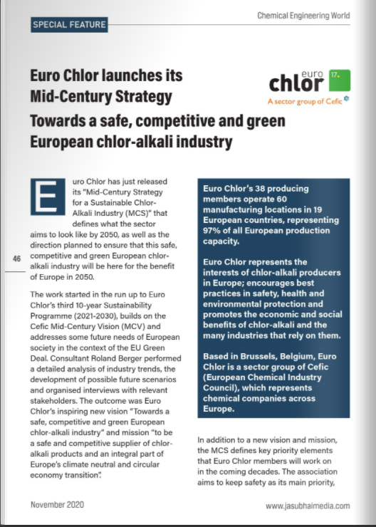 Chemical Engineering World publishes article about MCS