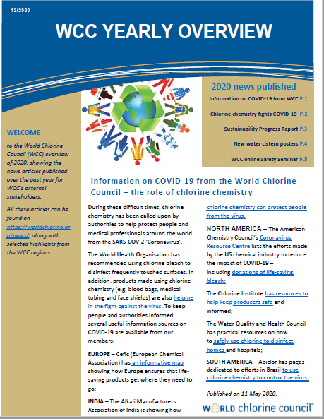World Chlorine Council Overview now published